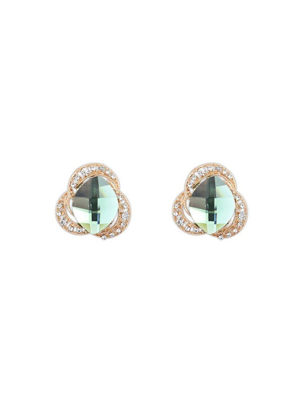 Occident Drei Blumen Böhmen Customs Stud Hot Sale Earrings