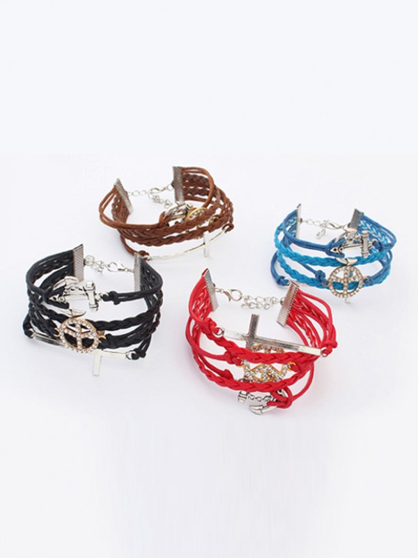 Occident Retro Anchor Cruciate gewebte Hot Sale Armbänder